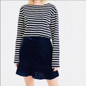 NWT JCrew Velvet Skirt